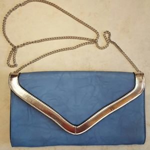 Vintage clutch with detachable chain strap
